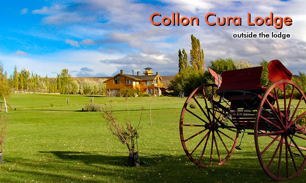 outside Collon Cura lodge photo